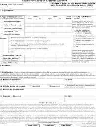 Leave Of Absence Form Template Leave Of Absence Template Caseyroberts Co