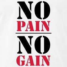 on no pain no gain essay on no pain no gain