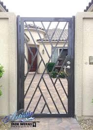 front door gateOrdinary Front Door Gates Wrought Iron Crisscross Front Entry Gate