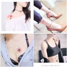 Tetování Samolepky Nepromokavé Muži A ženy Odolné Korejské Simulace Malé čerstvé A Krásné Tetování Clavicle Samolepky čisté červené Tetování Samolepky