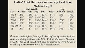 Ariat Heritage Field Boot Size Chart 53 Extraordinary Ariat Riding Boots Size Chart