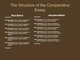 the comparative essay introduction to the comparative essay to  15 the structure of the comparative essay