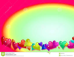 Rainbow Page Border Background Stock Illustration Illustration Of