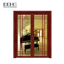 soundproof aluminium contemporary entrance doors red aluminium double front doors