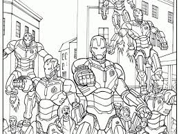 Disegni Da Colorare Ultron Esercito Di Robot Con Avenger Da Colorare