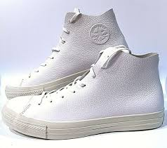 converse chuck taylor all star prime hi white leather shoes size 13 154837c