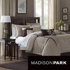 madison park dune beige brown 7 piece contemporary comforter set by madison park
