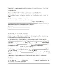 Free Employment Verification Form Template Custom 48 Proof Of Employment Letters Verification Forms Samples