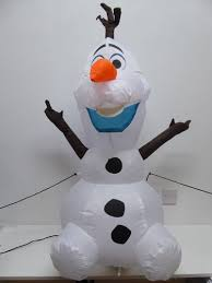 new uk gardens disney frozen 3ft 100cm snowman olaf inflatable light up led character for indoor outdoor