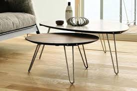 scandinavian coffee table round