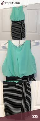 Mint Green And Black Dress Nwt Mint Green Tops Green Tops And