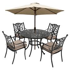 Lg outdoor devon 4 seater garden dining table and chairs set with parasol bronze at john lewis partners