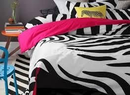 new arrival 100 cartoon active print zebra pink 4 piece bedding sets duvet cover