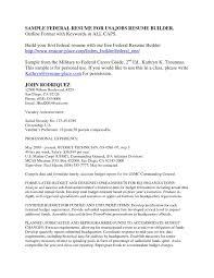 Usajobs Resume Builder Sample Government Resume Builder Free Download Chic Government Resume 1