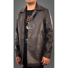 dean winchester supernatural distressed brown leather jacket