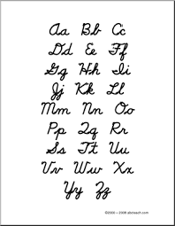 Capital And Lowercase Cursive Letters Chart Another Great Site For Teaching Cursive Handwriting Free