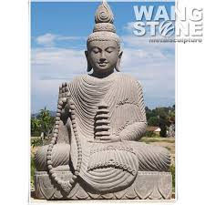 large outdoor sitting stone buddha statue intended for decor 16