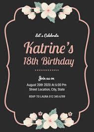 Party Invitation Generator Make 18th Birthday Invitations Online For Free Fotojet