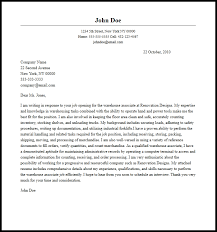 Warehouse Cover Letter For Resume 15 Professional Associate Sample