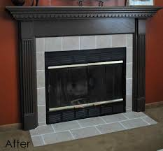 from the boring brown woodburning insert with stone ideas storm hunter woodburning diy wood fireplace surround