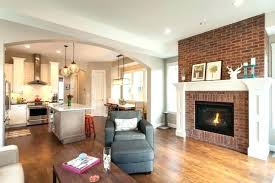 red brick fireplace living room decorating ideas with dec