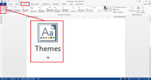 Word 2013 Themes How To Change Themes In Word 2013 Itushare