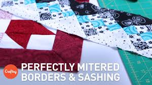 Mitered Corners for Borders & Sashing | Easy Quilting Technique ... & Mitered Corners for Borders & Sashing | Easy Quilting Technique with Winnie  Fleming Adamdwight.com