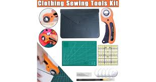 Clothing <b>Sewing Tools</b> Kit Hand Cutting Set Rotary Cutter <b>Patchwork</b> ...