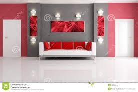 For Red Living Rooms Grey And Red Living Room Stock Photography Image 13708142