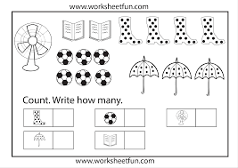 Counting 1-10 Worksheets - WorksheetsCounting Worksheets 1 10 For Kindergarten