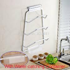 kitchen utensil wall racks accessories aluminium kitchen organizer wall mounted for dish and pot lid cover pl