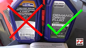 Polaris Lube Specification Chart Polaris Sportsman Front Diff Gearcase Fluid Change