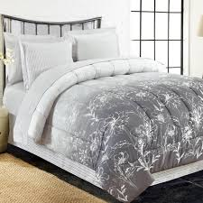 ine 8 piece grey king bed in bag set