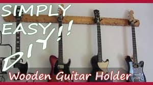 simply easy diy diy wooden guitar hanger