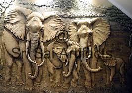 elephant frp wall high relief sculpture murals