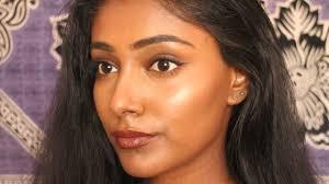 everyday makeup tutorial for brown dark skin simple look