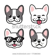 bulldog puppy drawing. Wonderful Puppy French Bulldog Hand Drawn Cartoon Face Set Cute Frenchie Puppy Drawing  Illustration Intended Puppy Drawing