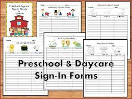 Parent Sign Up Sheet Parent Sign In Sheet Printable Brrand Co