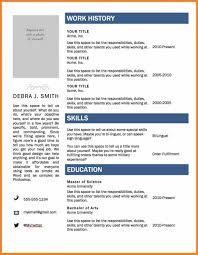 Cv Format In Ms Word 2007 Resume Templates Microsoft Word 2007 In