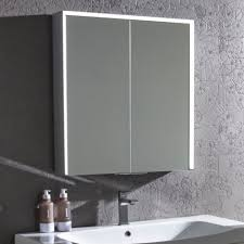 Illuminated Bathroom Mirror Cabinets LED Demister Pad UK