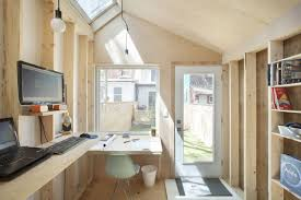 tiny backyard home office. Brilliant Backyard And His Spouse Wanted An Office Space Separated From The Rest Of Their  House But Also With A View On Grassy Play Area Oneyearold Child In Tiny Backyard Home Office