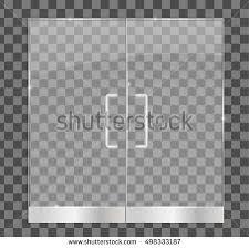 glass door texture. Transparent Glass Door, Isolated, Vector Illustration. For Shop, Store, Mall, Door Texture