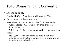 regents review topic women thematic essay topics that can be  1848 women s right convention seneca falls ny elizabeth cady stanton and lucretia mott declaration of