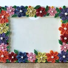 how to create a colorful fl photo frame diy crafts tutorial within how to make handmade photo frames with handmade paper step by step