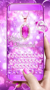 Roze Diamant Glitter Toetsenbord For Android Apk Download