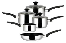 Prestige Kitchen Appliances Prestige Everyday Stainless Steel Cookware Set 5 Piece Silver