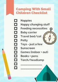 Family Camping Trip Packing Checklist Bub Hub