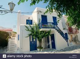 blue door house. White House With Blue Doors And Shutters On Mykonos Cyclades Islands Greek Greece Europe Door
