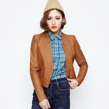 short leather jacket women