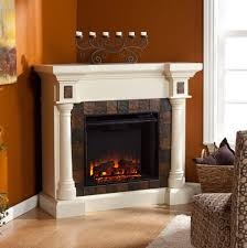 44 5 carrington faux slate convertible electric fireplace ivory